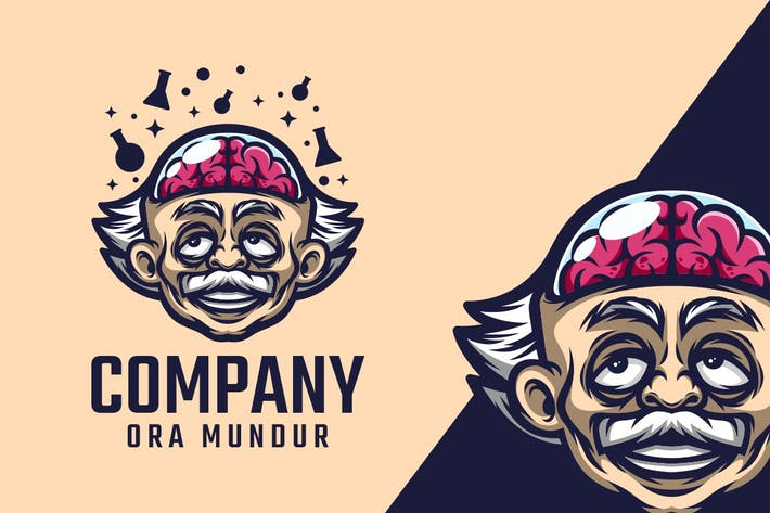 Thumbnail for Brain Genius Logo Mascot
