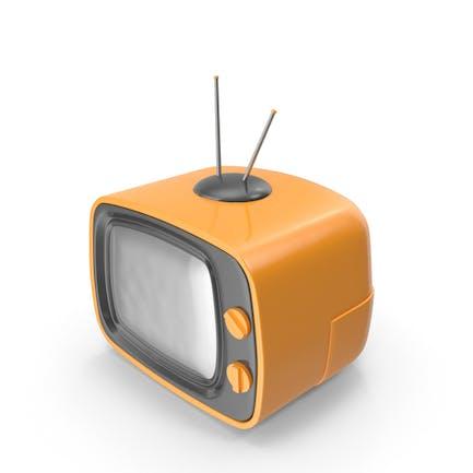 Televisión de Dibujos animados naranja