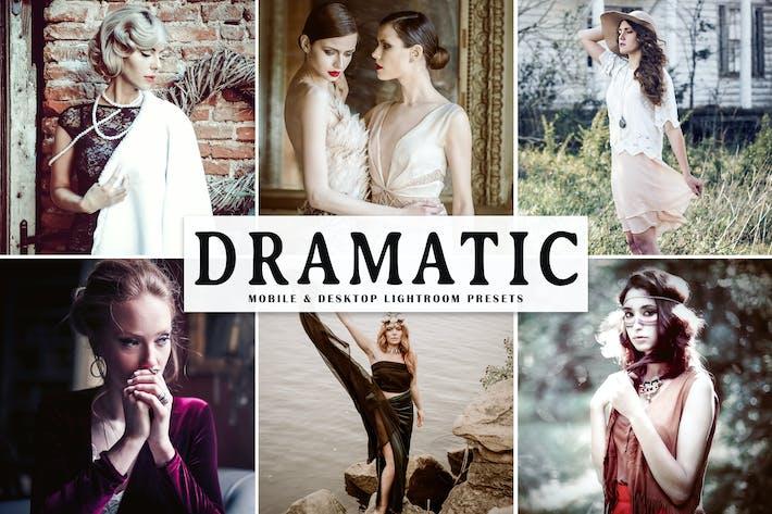 Thumbnail for Dramatic Mobile & Desktop Lightroom Presets