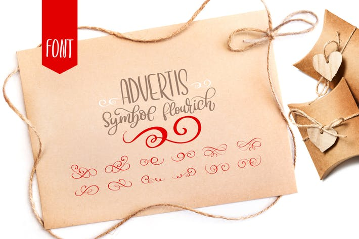 Thumbnail for Advertis Ornamento Flourish Font