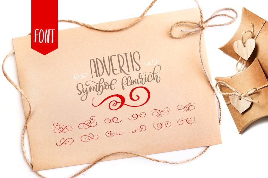 Advertis Ornament Flourish Font