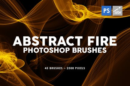 45 Abstract Fire Photoshop Stamp Brushes