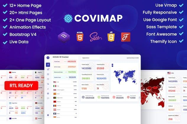 CoviMap - Coronavirus (Covid-19) Medical Template