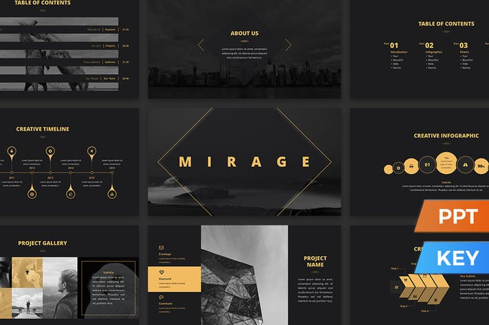 Thumbnail for Mirage Presentation Template