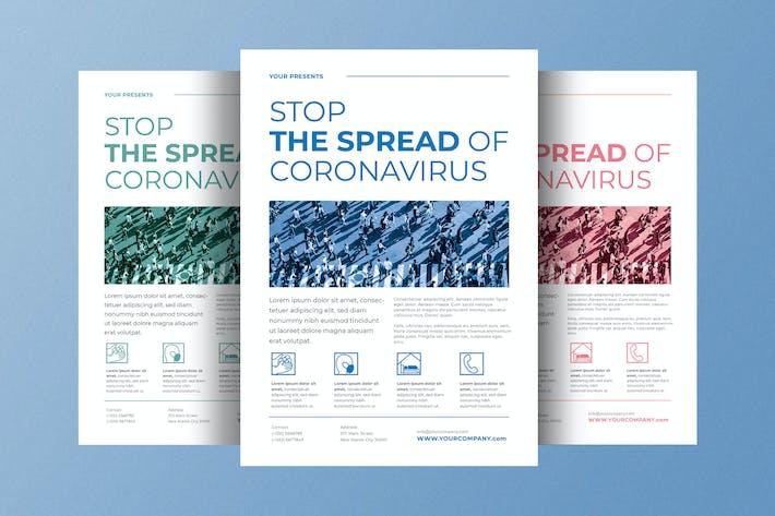 Thumbnail for Stop Corona Virus Flyer