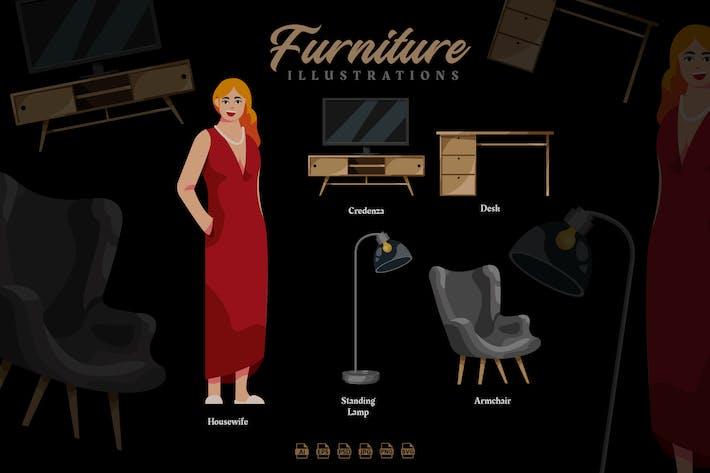 Thumbnail for Furniture - Illustrations
