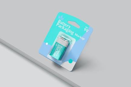 PP3 Battery Packaging Mockups