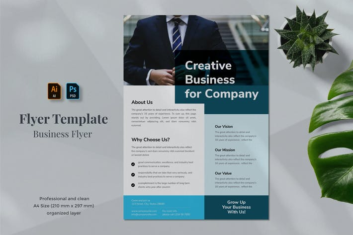 Thumbnail for Business Flyer Template 1.4