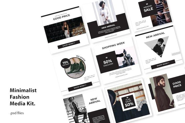 Thumbnail for Kit Médias Sociaux Mode Minimal