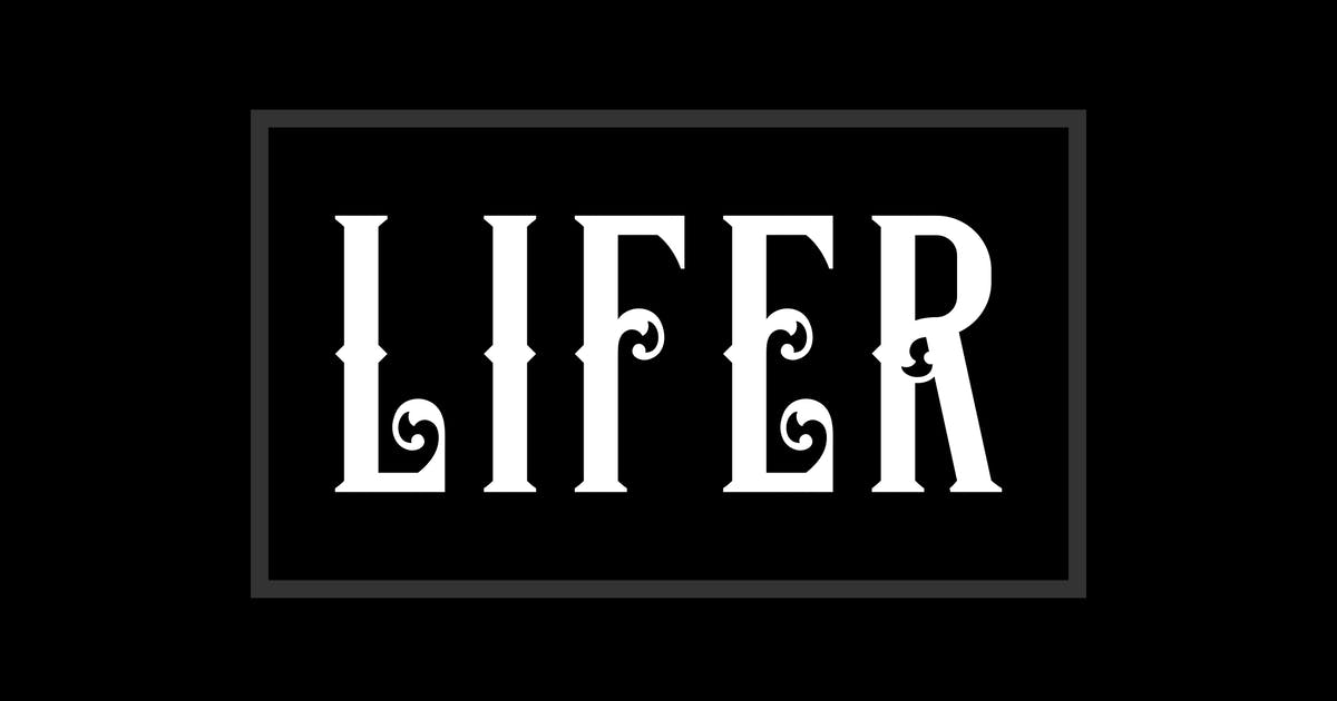 Lifer Typeface by twicolabs