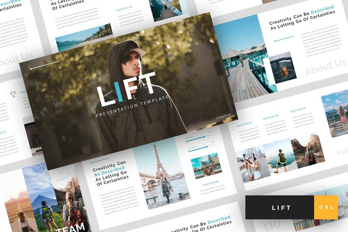 Thumbnail for Lift - Creative Google Slides Template