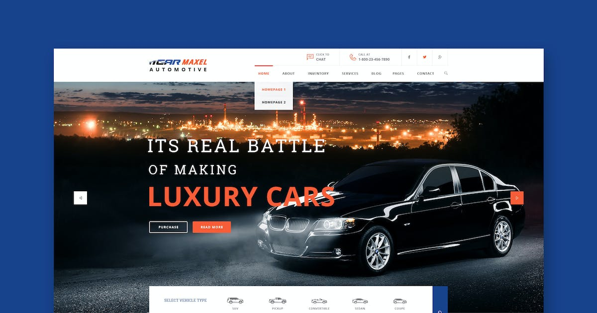 Download Car Max - Automotive HTML Template by WPmines