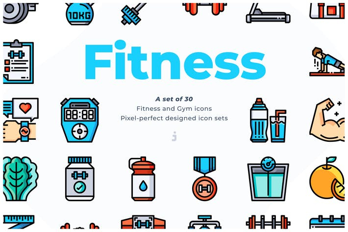 Thumbnail for 30 Fitness Icons