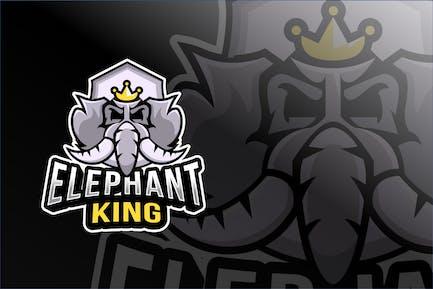Elephant King Esport Logo Template