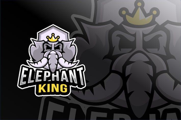 Thumbnail for Elephant King Esport Logo Template