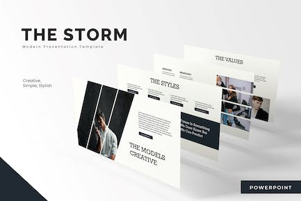 The Storm  - Powerpoint Template
