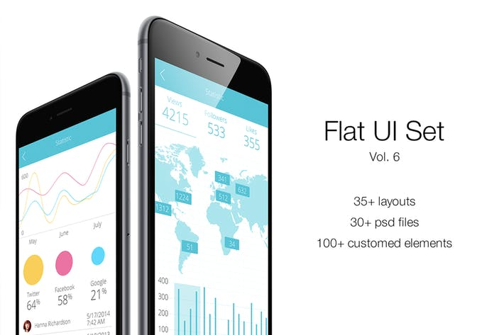 Cover Image For iOS Flat UI Set Vol. 6