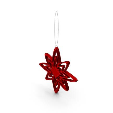 Рождественский звездный орнамент