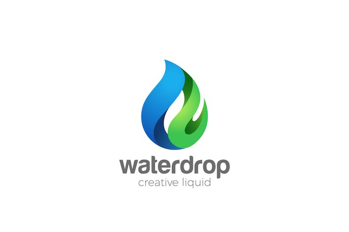 Thumbnail for Logo Water Drop Clear Natural Mineral Aqua Droplet