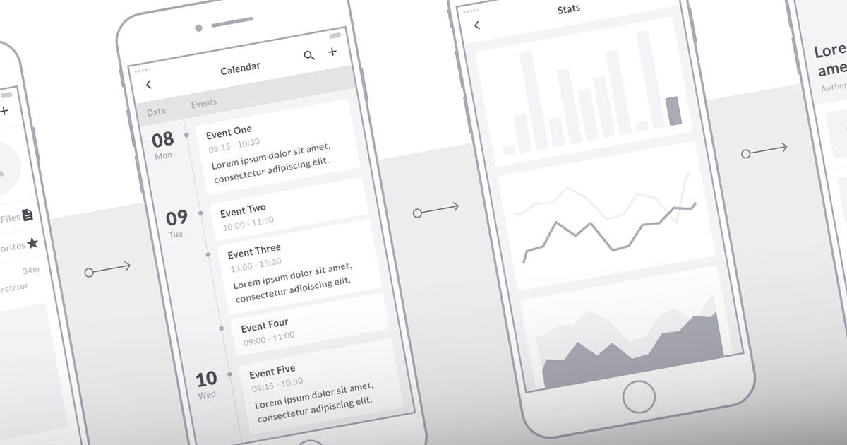 Download Mobile Wireframe Kit by uiuxassets