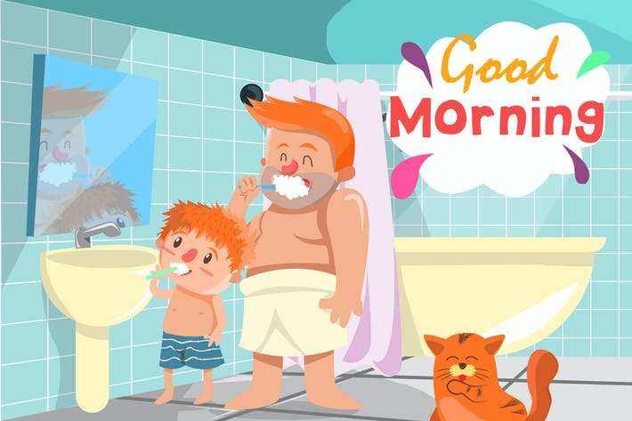 Thumbnail for Morning Activity - Vector Illustration