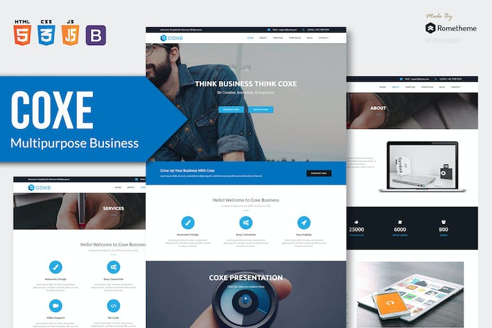 Thumbnail for COXE - Corporate Multipurpose HTML Template