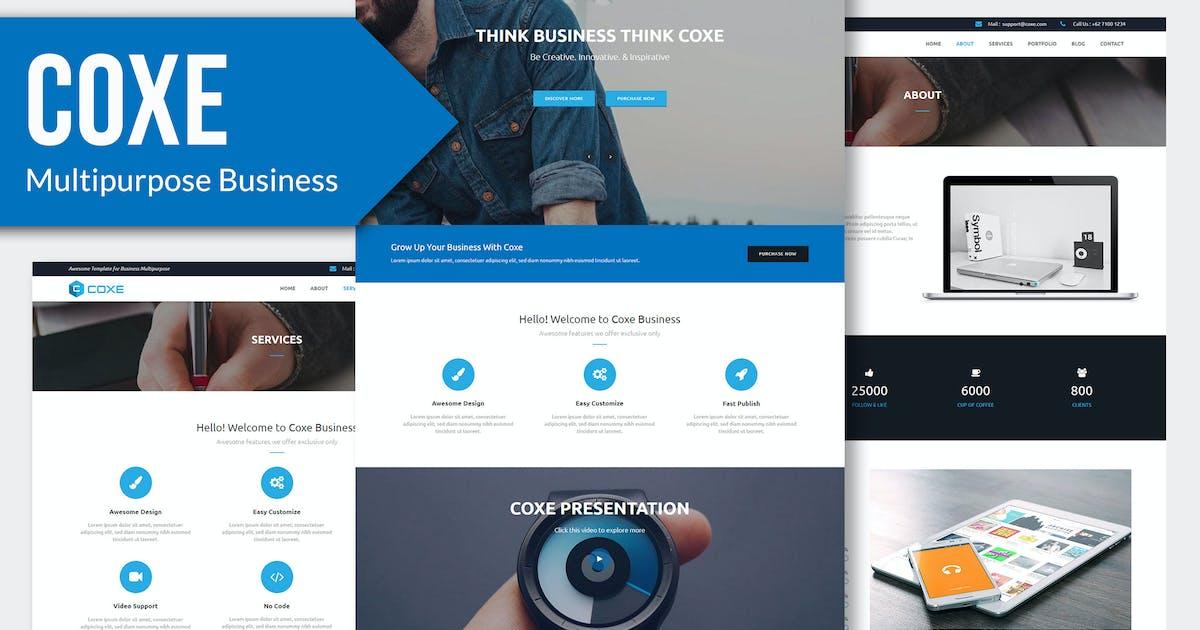 Download COXE - Corporate Multipurpose HTML Template by Rometheme
