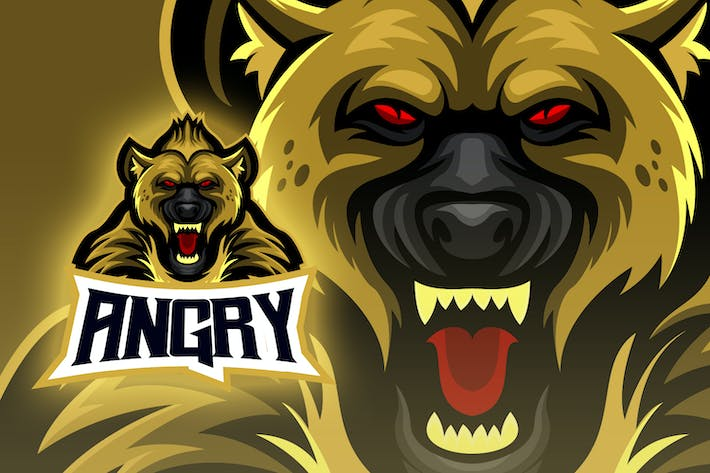 Thumbnail for Angry Hyena Esport Logo
