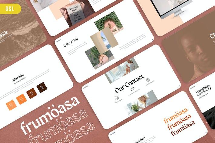 Thumbnail for Frumoasa - Brand Guideline Google Slides Template