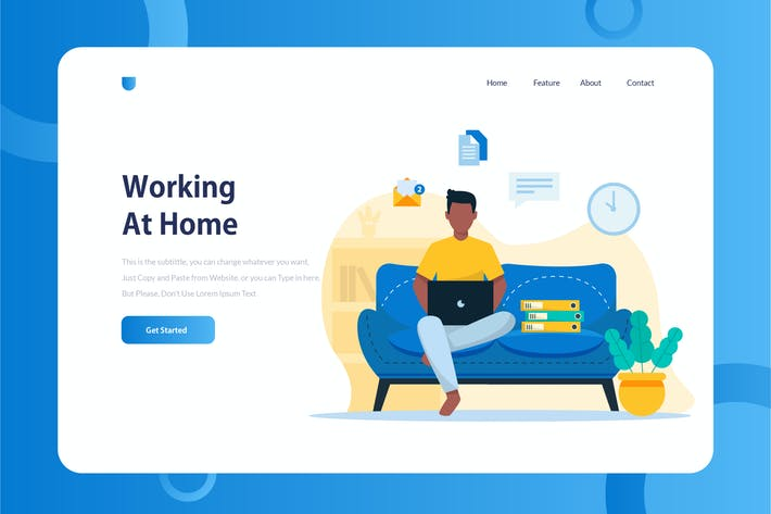 Thumbnail for Working At Home Onboarding Illustration