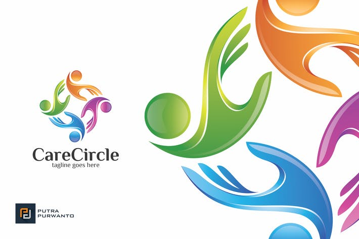 Thumbnail for Care Circle / Hands - Logo Template