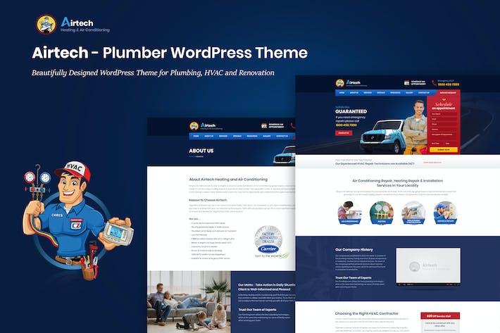 Thumbnail for Airtech - Plumber WordPress theme