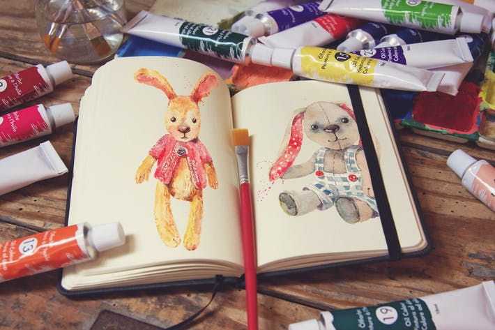 Cover Image For Pocket Notebook & Brush