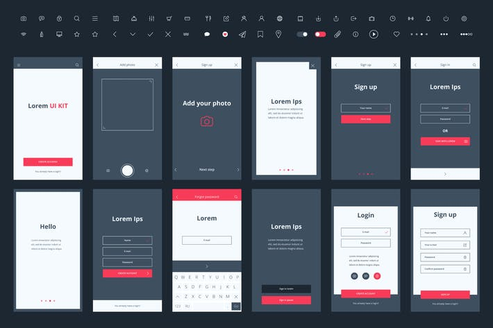 Thumbnail for Material Design Mail App Kit for Mobile