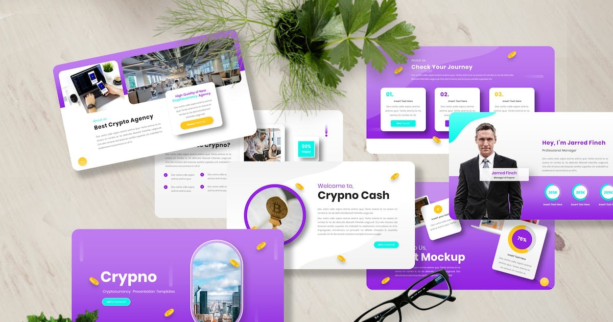 Download Crypno - Cryptocurrency Powerpoint Templates by Yumnacreative