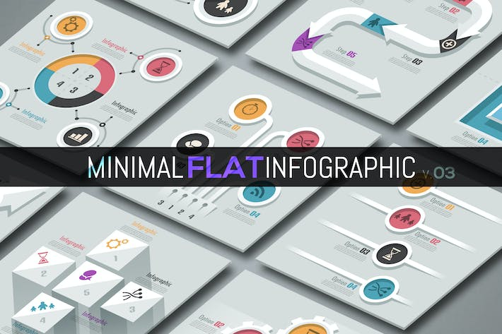 Thumbnail for Minimal Flat Infographics v.03