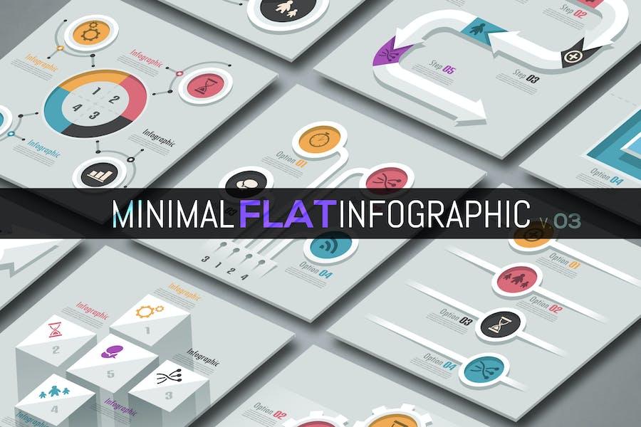 Minimal Flat Infographics v.03