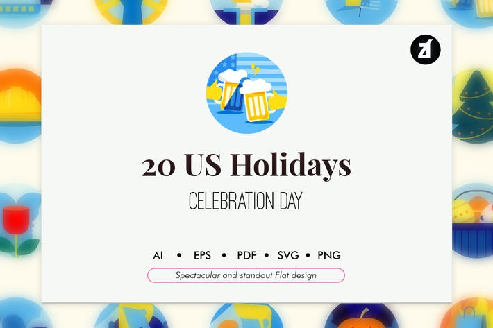 Thumbnail for 20 US holiday elements