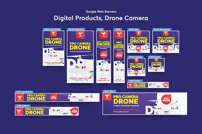 Thumbnail for Drone Product Showcase Banners Ad