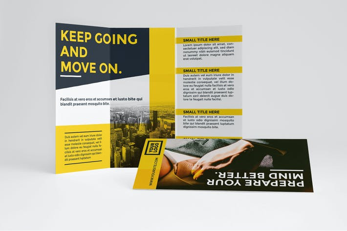 Cover Image For Business Yellow Trifold