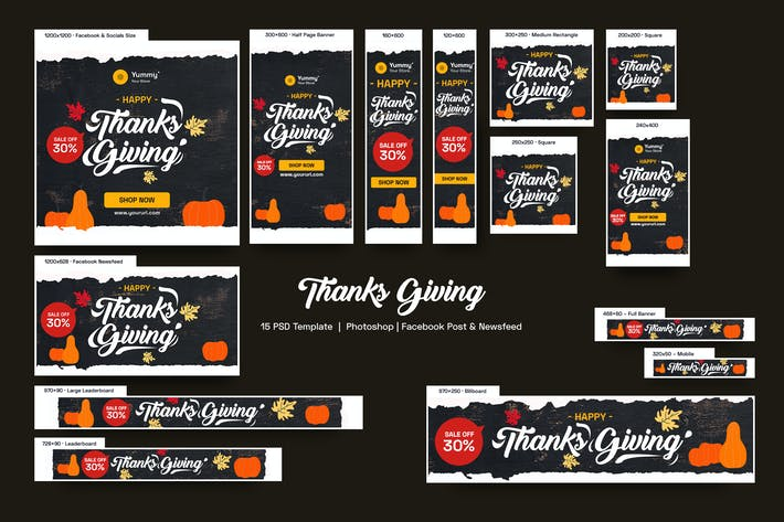 Thumbnail for Thanks Giving Banners Ad