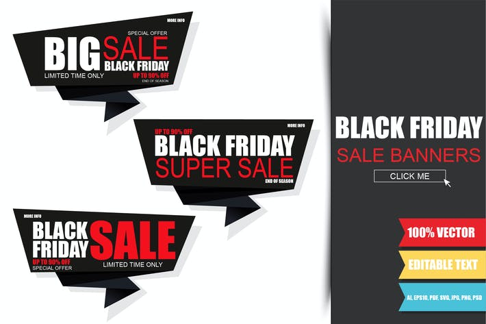 Thumbnail for Black Friday Sale Banners