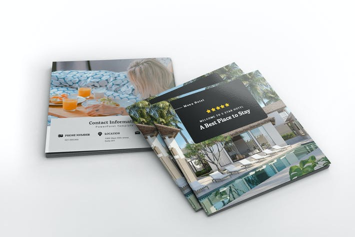 Thumbnail for Moxa Hotel Square Brochure Template