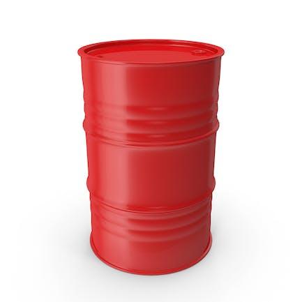 Barril de metal limpio rojo