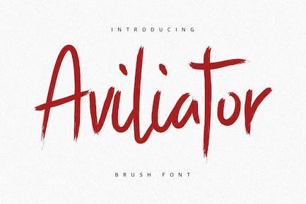 Шрифт кисти Aviliator