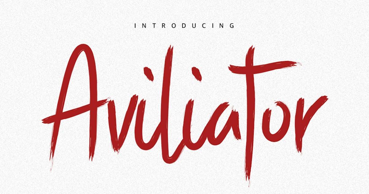 Download Aviliator Brush Font by maulanacreative