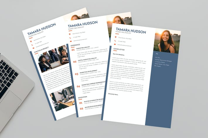 Thumbnail for Marketing Analyst Resume Designer