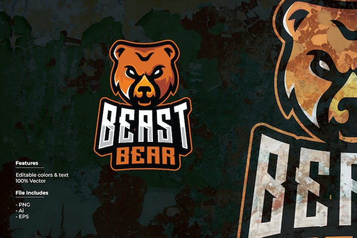 Thumbnail for Beast Bear Sport and Esport Logo Template