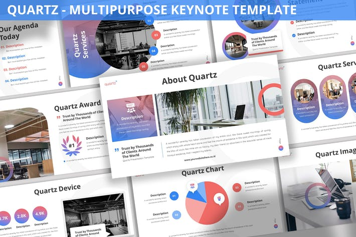 Thumbnail for Quartz - Multipurpose Keynote Template