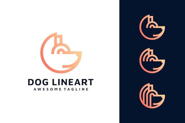 Thumbnail for DOG LINE ART LOGO TEMPLATE